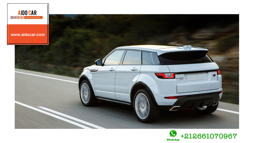 location de voiture de luxe casablanca 15 de remise sur la range rover evoque chez aido car. Black Bedroom Furniture Sets. Home Design Ideas